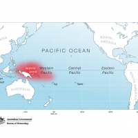 Pacific Map - La Niña