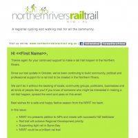 Northern Rivers Rail Trail enewsletter