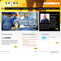 Spine Specialist Solutions website