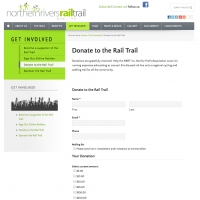 Northern Rivers Rail Trail donation section